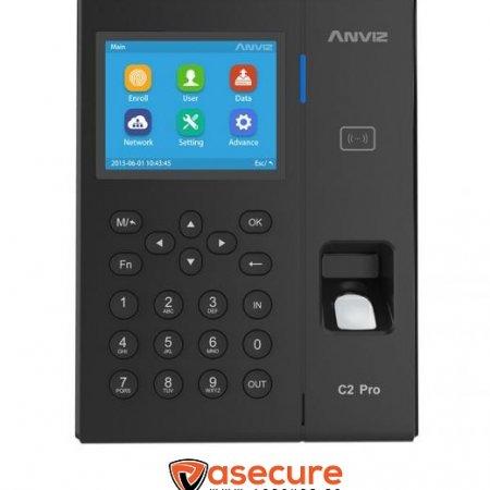 Sistema de control horario mediante huella, tarjeta y contraseña C2PRO Anviz