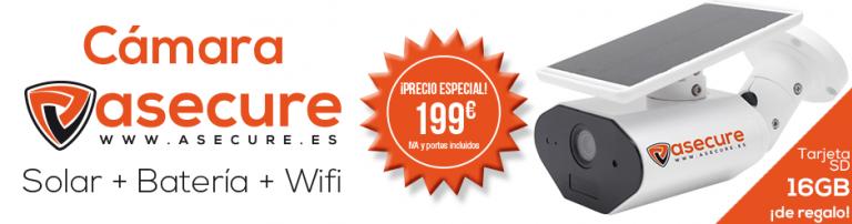 Cámara aSecure Solar+Batería+Wifi