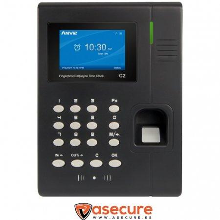 Control de Presencia Biométrico 3000 huellas y RFID TFT color TCP/IP C2 Anviz